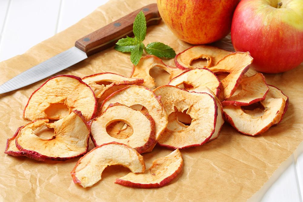 Baked Apple chips can add a healthy crunch