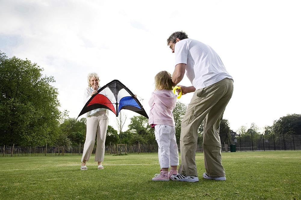 Fitness benefits of kite flying